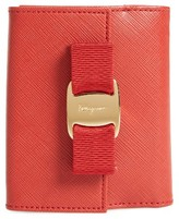 Salvatore Ferragamo Women's Vara Bow Calfskin Leather French Wallet - Red