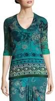 Fuzzi Women's Batik Floral Print Top