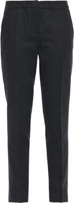 BA&SH Melange Brushed Wool-blend Slim-leg Pants