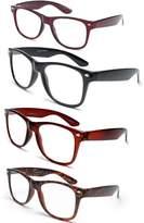 IG Reading Glasses Newbee - 4 Pack IG Wayfarer Style Comfortable Stylish Simple Reading Glasses