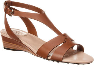 Tod's Leather Wedge Sandal