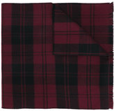 Valentino check scarf - men - Virgin Wool - One Size