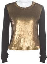 Ralph Lauren Gold Silk Knitwear