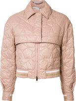 Stella McCartney cropped bomber jacket - women - Polyamide/Polyester/Wool - 38