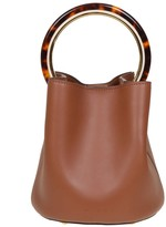 Marni Handbag Pannier In Leather Circular Handle In Resin And Metal