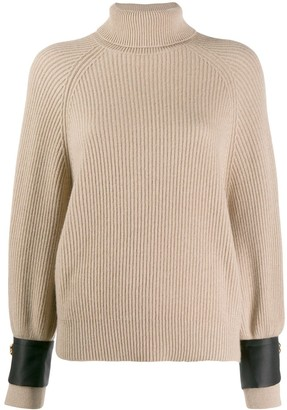 Brunello Cucinelli Satin Cuff Jumper