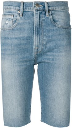 Frame Knee-Length Denim Shorts