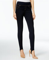 INC International Concepts Petite Indigo Wash Stirrup Skinny Jeans, Only at Macy's