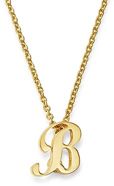 Roberto Coin 18K Yellow Gold Cursive Initial Necklace, 16