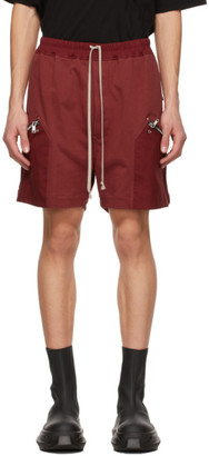 Rick Owens Red Performa Running Shorts
