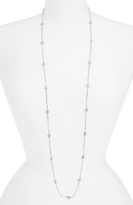 CRISTABELLE Crystal Pave Station Necklace