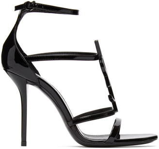 Saint Laurent Black Cassandra 100 Heeled Sandals