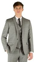 Red Herring Grey Heritage Check Slim Fit 1 Button Jacket