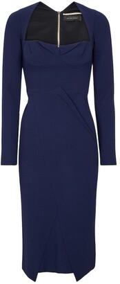 Roland Mouret Glasbury wool crApe midi dress