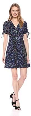 French Connection Women's Aubine Drape VNCK TIE SLV DRSS Dress,(Size:--)