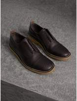 Burberry Raised Toe-cap Leather Brogues , Size: 40.5, Brown