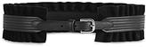 Reiss Tilda Ruffle Wide Leather & Suede Belt