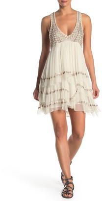 Free People Twilight Beaded Mini Dress
