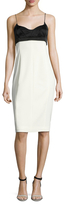 Narciso Rodriguez Crepe Colorblocked Sheath Dress