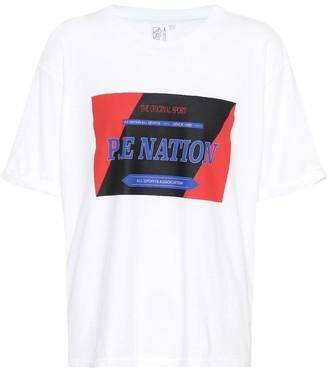 P.E Nation Forward Tee printed cotton T-shirt