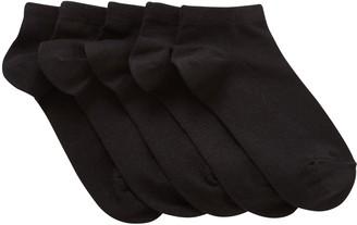 John Lewis & Partners Children's Trainer Liner Socks, Pack of 5