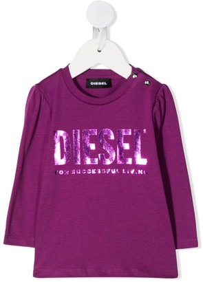 Diesel logo print long sleeve T-shirt