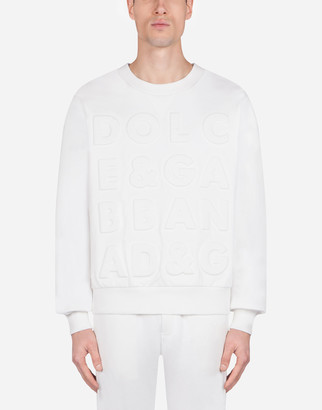 Dolce & Gabbana Jersey Sweater With Three-Dimensional Logo
