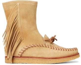 Ralph Lauren Channing Fringe Mid-Rise Boot