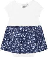 eBBe Kids Midnight Blue Dotted Crop Baby Dress