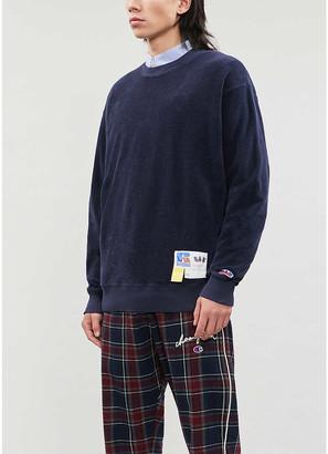 Russell Athletic Towelling organic-cotton sweatshirt