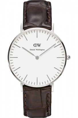 Daniel Wellington Ladies York Silver 36mm Watch DW00100055