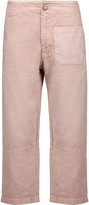 Current/Elliott The Woven Military cropped twill straight-leg pants
