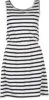 Miso Womens YD Striped Jersey Dress Sleeveless Round Neck Summer Casual