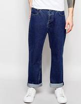 Asos Standard Leg Jeans In Mid Blue
