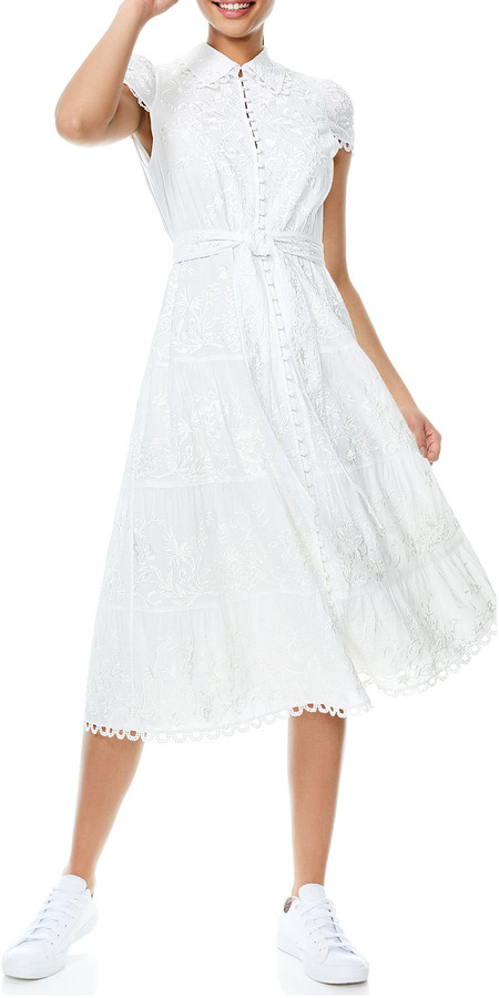 Thumbnail for your product : Alice + Olivia Vanessa Button-Down Midi Dress