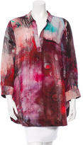 Piazza Sempione Abstract Print Silk Top
