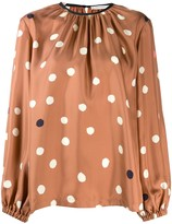 Chinti and Parker loose-fit polka dot blouse