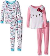 Hello Kitty Little Girls' Toddler 4 Piece Cotton Set