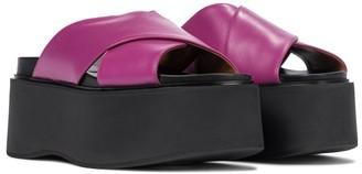Marni Leather platform slides