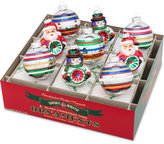 Christopher Radko Shiny Brite Traditional Brights Rounds & Reflector Figures Boxed Ornaments, 9-Pc. Set