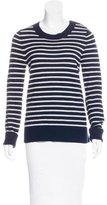 A.L.C. Wool & Cashmere-Blend Striped Pattern Sweater
