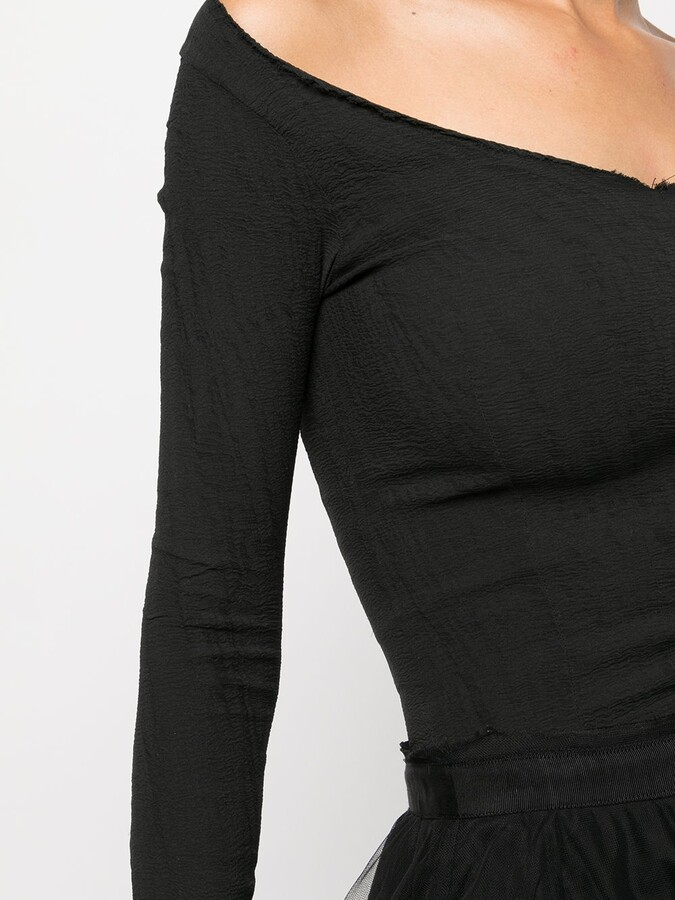 Thumbnail for your product : Marc Le Bihan Boat-Neck Slim-Fit Top
