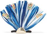 Rosantica Gold-tone, Raffia And Quartz Hair Tie - Blue