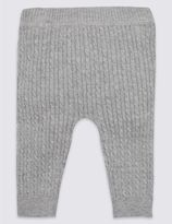Marks and Spencer Pure Cotton Cable Knit Leggings