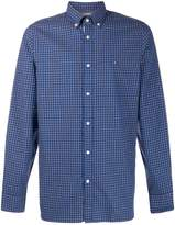 Tommy Hilfiger logo embroidered check shirt