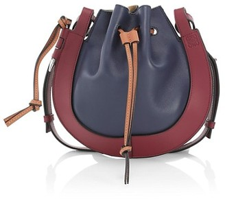 Loewe Small Horseshoe Colorblock Leather Saddle Bag