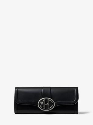 Michael Kors Monogramme Vachetta Leather Clutch