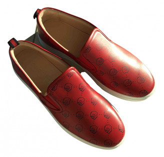 Gucci Red Leather Trainers
