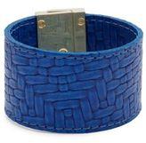 CC Skye Embossed Leather Wrap Bracelet