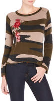 Cliche Camouflage Cutout Back Sweater
